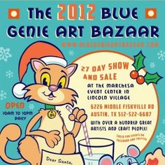 The store is an offshoot of The Blue Genie Art Bazaar, an Austin tradition during the holiday shopping season and a great place for Austinites from Shady Hollow to Barton Creek to buy exceptional art and gifts. This year's Blue Genie Art Bazaar runs from November 27th through December 24th, seven days a week, and admission is free.