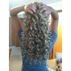 blonde curly hair. I think I am like 2/3 of the length...we'll see if I can stand not cutting it much longer!