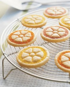 Citrus Cookies - sanding sugar, spool...