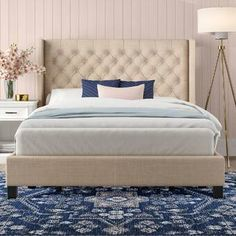 12 Gorgeous Bedroom Color Schemes That Will Give You Inspiration to Your Next Bedroom Remodel - The Trending House Upholstered Platform Bed, Upholstered Beds, Bedroom Layouts, Bedroom Ideas, Cozy Bedroom, Bedroom Inspo, Master Bedroom, Bedroom Decor, Bed Reviews