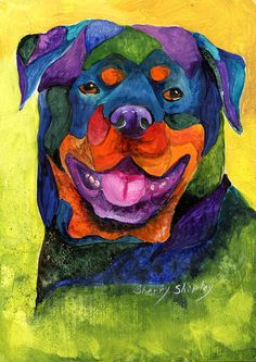 Rottweiler Painting - Rottweiler by Sherry Shipley