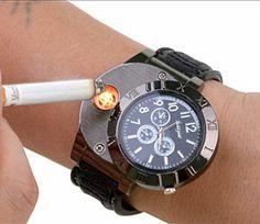 c2f4738e9853 Encontrar Más Relojes business Información acerca de Nuevo 2015 Military  mechero electrónico Usb reloj de cuarzo