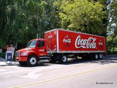 Coca-Cola Bottling Company of California truck in Mountain View