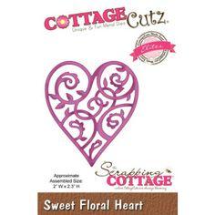 Cottage Cutz Sweet Froral Hearts Florale Herzen von Prell Versand auf DaWanda.com