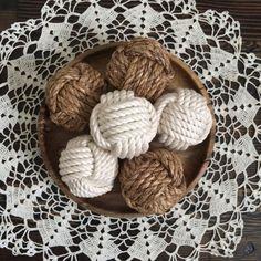 Decorative Rope Balls Nautical Monkey Fist Rope Knots 3 Decorative Knot Balls  Hpkw
