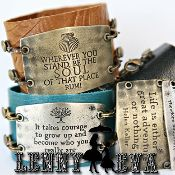 Fell in love with these cuffs, large inscribed quotes, and super cute charms. Scored one for my birthday in feb!!