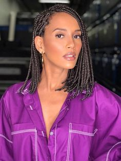 Top 60 All the Rage Looks with Long Box Braids - Hairstyles Trends Short Box Braids Hairstyles, Bob Box Braids Styles, Short Braids, Braided Hairstyles For Black Women, Box Braids Styling, Braid Styles, Curly Hair Styles, 1930s Hairstyles, Emo Hairstyles
