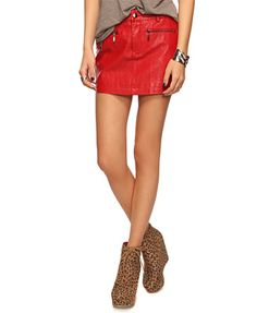 Zippered Leatherette Skirt...available in red, white, and black...I want all colors!!