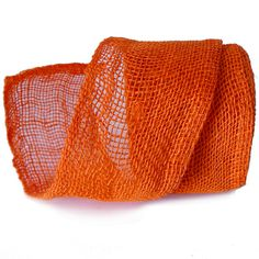 "4"" Jute Ribbon - natural fiber, orange. More colors available at www.trendytree.com $8.25"