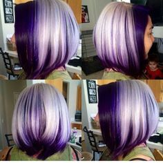 HairSpotting: TOP hairstyles to fall in love with! HairSpotting: TOP hairstyles to fall in love with Purple Hair, Ombre Hair, Purple Bob, Purple Ombre, Dark Purple, Plum Hair, Ombre Bob, Violet Hair, White Ombre