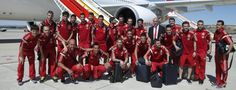 Spanish National Football Team off to the FIFA World Cup 2014