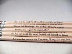 Harry Potter Book Page Pencil Set by bouncingballcreation on Etsy from bouncingballcreation on Etsy. Saved to Gotta Get Back To Hogwarts. Harry Potter Quotes, Harry Potter Love, Hp Quotes, Random Quotes, Book Quotes, Funny Quotes, Percy Jackson, Hogwarts, Yer A Wizard Harry