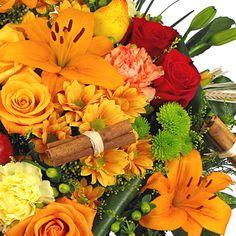 Autumn Shades Luxury Hand-tied -Bouquet of flowers in beautiful autmumn colours  www.eden4flowers.co.uk