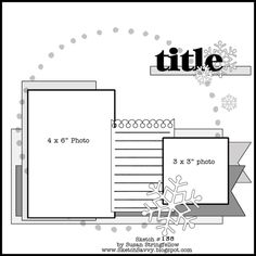 creative scrapbooking, stamping and craft ideas. Scrapbook Layout Sketches, Scrapbook Templates, Card Sketches, Scrapbook Albums, Scrapbooking Layouts, Scrapbook Cards, Yearbook Layouts, Yearbook Design, Yearbook Theme