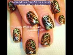 Leopard Print Nails! | Animal print nail art design Tutorial with eyeshadow! - YouTube