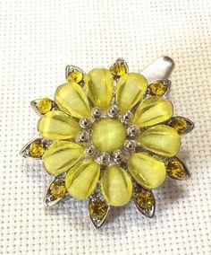 Repurposed Hair Clip Vintage Brooch Yellow by SophiesHatsandMore, $12.00