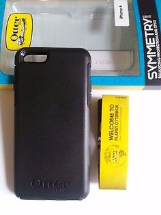 """New OtterBox Symmetry Series Case For iPhone 6 / iPhone 6S 4.7"""" - Black"""