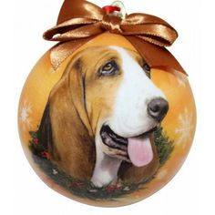 Basset Hound Shatterproof Dog Christmas Ornament
