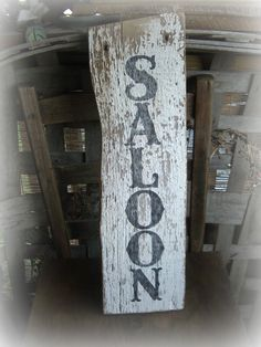 Rustic Western style Saloon reclaimed barn by BarnDanceTradingCo on Etsy. Would make a wonderful gift.