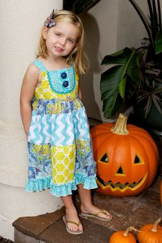 Hadley Dress (size 18m, 2T,3T,4T & 6). $58.00, via Etsy.