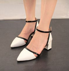 Summer 2014 New zapatos women's shoes sexy heels female size 35-39 mixed PU leather  4 color sandals lady's pumps  $111.25