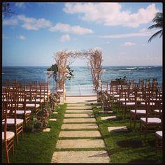 Chuppah - wedding at Ritz Carlton Reserve in Dorado Beach, Puerto Rico
