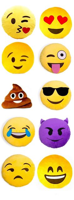 Who doesn't love emojis? I do and so do a lot of kids. These cute emoji pillows are excellent, they are soft, comical, bright and super fluffy. Absolutely a good decorative pillow for your sofa and bed.  Not only are they super comfy, but everyone around will ask you where you got them!  Which expression is your fave? The exterior is made from high quality PP cotton fabric. Overstuffed and cute shaped item great for sleeping, watching TV or cushioning any part of body you need to relax.