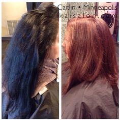 #colorcorrection #beforeandafter #brownhairdontcare #northloop #nolo #themoment #kaisalonmn #brunette #mediumhair