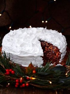 Jamie's gluten free Christmas cake is packed with festive flavours; better yet this Christmas cake recipe is gluten free so everyone can enjoy a slice.