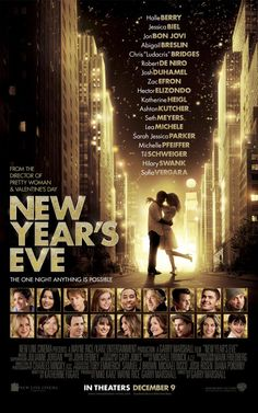 """Star studded cast in a film about """"the lives of several couples and singles in New York intertwine over the course of New Year's Eve"""". Opens 25 December 2011 in Sweden."""