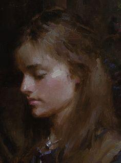 "Morgan Weistling, ""Sissy's Braids"", detail Digital Portrait, Portrait Art, Portrait Paintings, Morgan Weistling, Art Romain, Art Courses, Traditional Paintings, American Art, Female Art"