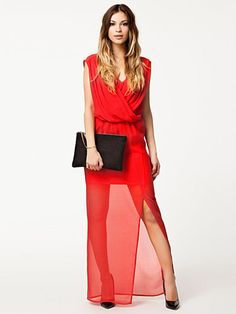 Draped Front Dress - Nly Eve - Punainen - Juhlamekot - Vaatteet - Nainen - Nelly.com