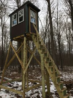 Elevated deer stand completed this year.