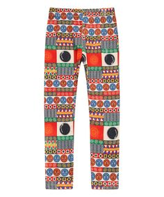 Loving this Richie House   Red Geometric Leggings - Girls on #zulily! #zulilyfinds