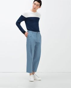 Discover the new ZARA collection online. The latest trends for Woman, Man, Kids and next season's ad campaigns. Harem Pants, Trousers, Online Zara, Zara United Kingdom, Casual Outfits, Casual Clothes, Menswear, Normcore, My Style