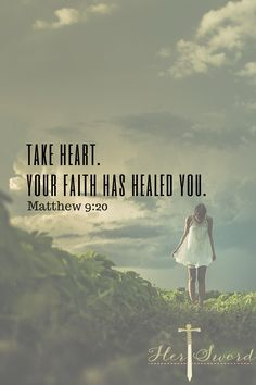 Don't lose faith. Don't stop praying for your miracle! God Has given us a promise of our faith healing us. Her Sword Devotional