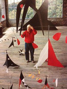 """Just as one can compose colors, or forms, so one can compose motions.""--Alexander Calder (must show balance, must use organic shapes) Alexander Calder, Mobile Sculpture, Sculpture Art, Sculptures, Mobiles, Atelier Theme, Mobile Art, Kinetic Art, Art Plastique"