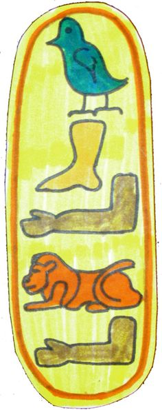 Egyptian Sarcophagus and Cartouche