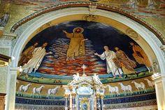 Basílica de los Santos Cosme y Damián mosaico - Buscar con Google