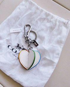 a9ffe5c0fad Coach 3D Heart Bag Charm Keychain Leather F65427 NWT Dust Bag  Coach