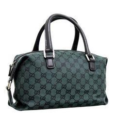 GUCCI Joy Boston Bag GG Canvas - Dark Green #mariskelately #apparel #shopping #luxliving #luxuryshopping #onlinestore #beauty #bags #style #uniquestyle #fashion #fashionistas #lookfabulous #gucci  #ilovegucci #gucciforever #guccigirl Boston Bag, Gucci Handbags, Luxury Bags, Louis Vuitton Damier, Chloe, Prada, Saint Laurent, Joy, Dark