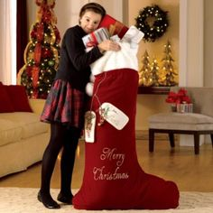 mom would love this for the front door giant christmas stocking with personalization unique christmas - Large Christmas Stockings