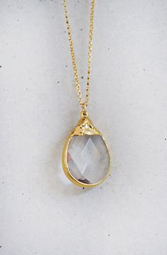 CRYSTAL necklace by shopkei on Etsy