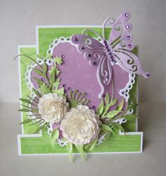 butterfly and flower stand up card
