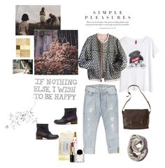 """~Simple pleasures~"" by nicolesynth ❤ liked on Polyvore featuring H&M, True Religion, Pull&Bear, nette'. leather goods., Étoile Isabel Marant, philosophy, Byredo, Marc Jacobs, Bobbi Brown Cosmetics and Athleta"