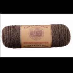 "Fisherman's Wool by Lion Brand; this is what I started with re: the ""autumn russets dye job using Kool Aid. See the scarf."