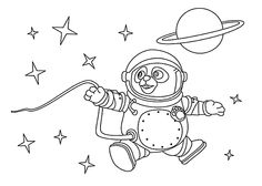 Agent OSO astronaut coloring pages for kids, printable free - Special agent OSO