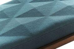 greeny blue triangled surface