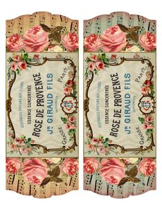 French Perfume Label ~ project & printable