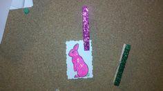 glitter clothespins for bulletin board